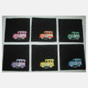 Painted Coaster – Jeep Set of 6 1